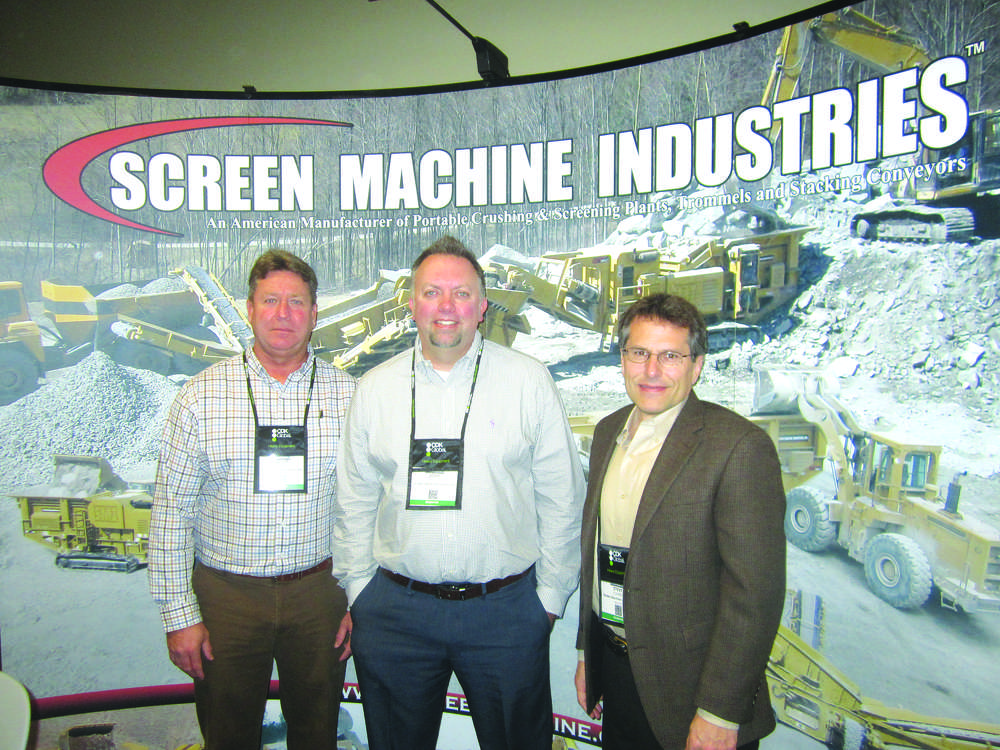 (L-R): Scott Timmer, Jody Beasley and Steve Cohen, president and CEO, all of Screen Machine Industries.