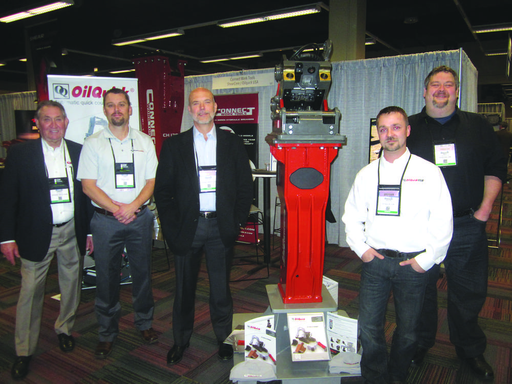 (L-R): Jimmy Slavens, sales and marketing manager; Ian Lewandowsk; Kevin Boreen, CEO; Jason Johnson; and Ray Gamache, all of Connect Work Tools.