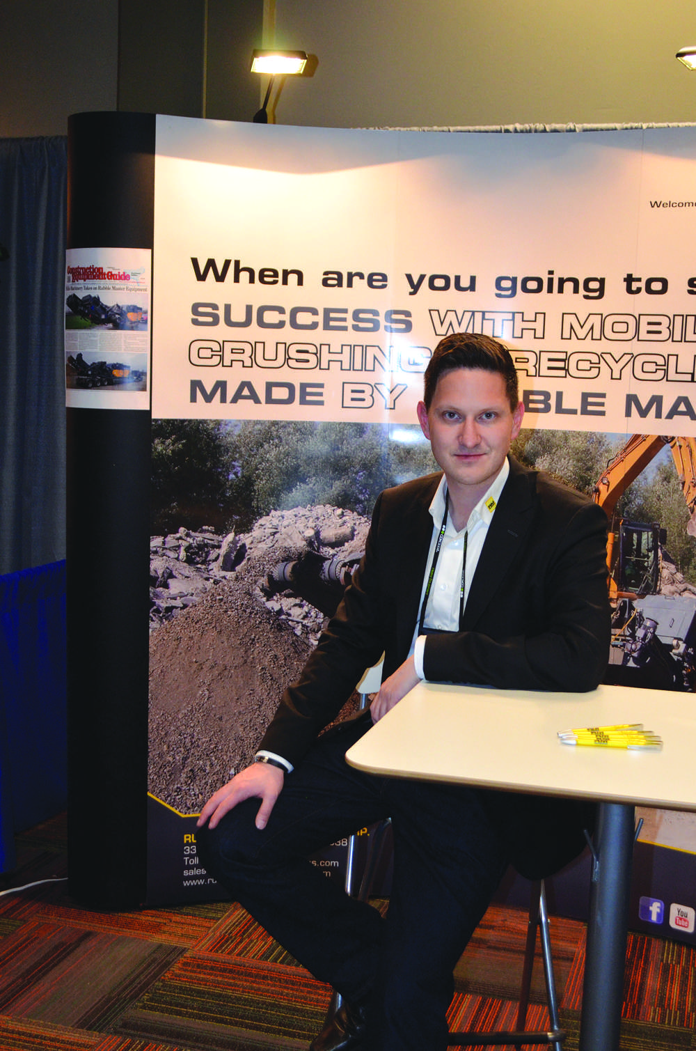Rene Wagner of Rubble Master is establishing a nationwide dealer network for one of the world leaders in recycling equipment.