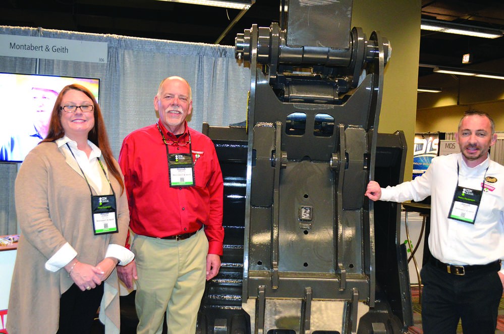 Geith Attachments are recognized worldwide for their strength and durability. (L-R): Vonda Miller, Bruce Jackson and Paul Schevlin.
