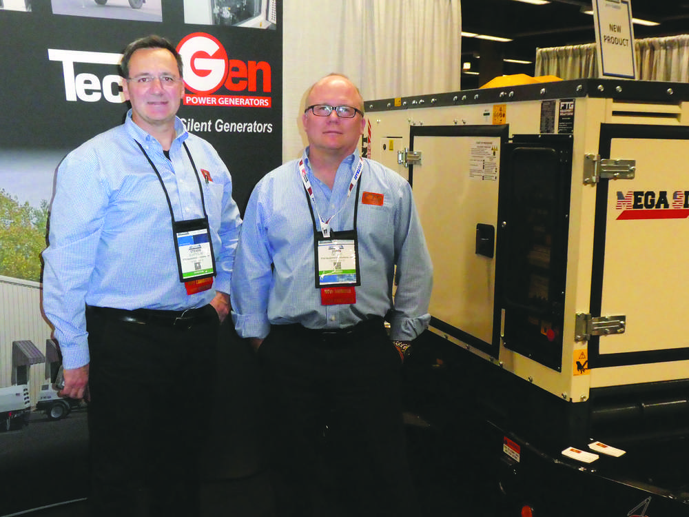 Steve Scattolini (L) and John Skross of FTG Equipment Solutions, Carney's Point, N.J. FTG specializes in air compressors and generators.
