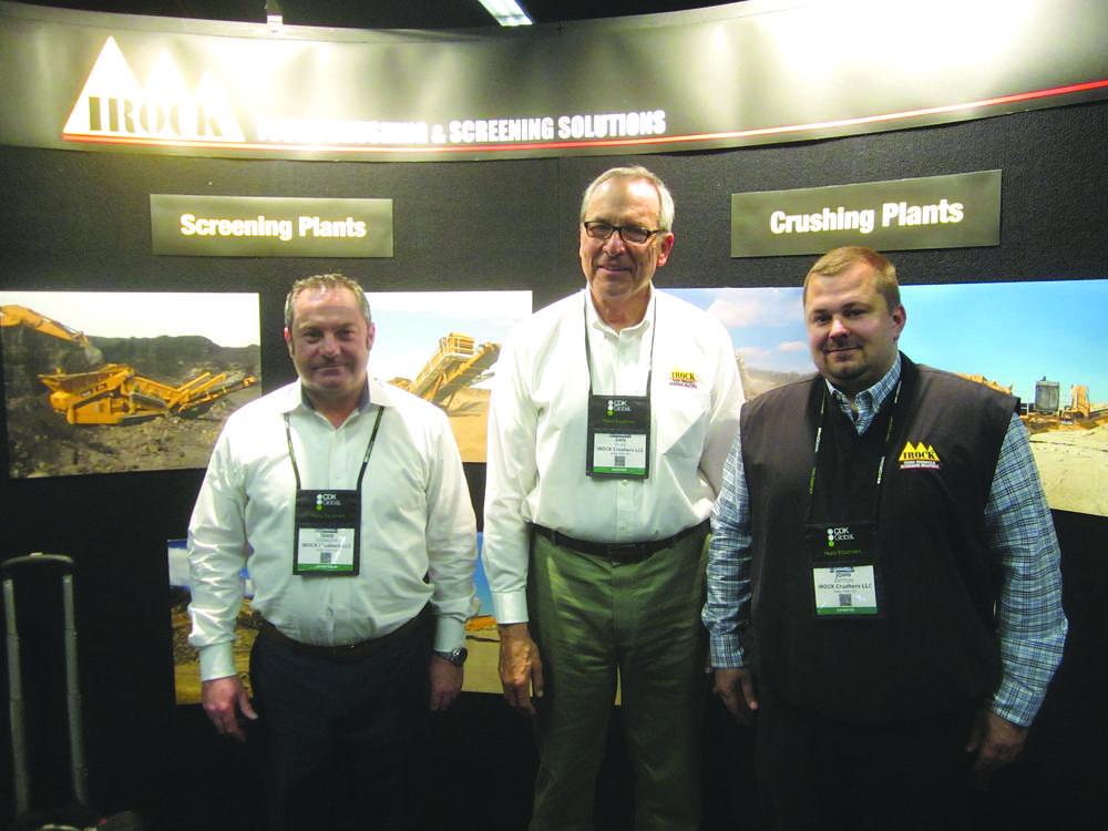 (L-R): Sean Donaghy, Dan Davis and John Patton, all of IROCK Crushers LLC.