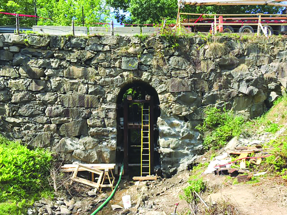Built by the city of Saco in 1848, the drystone bridge features a keyhole arch about 8 ft. (24.3 m) wide and 20-ft. (61 m) high.