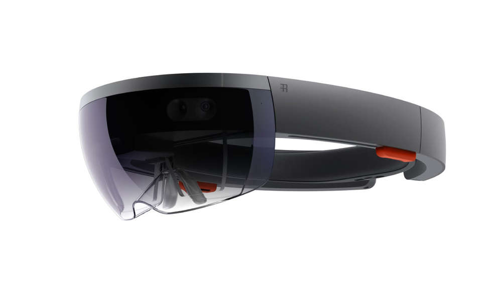 The Microsoft HoloLens. (Microsoft Photo)