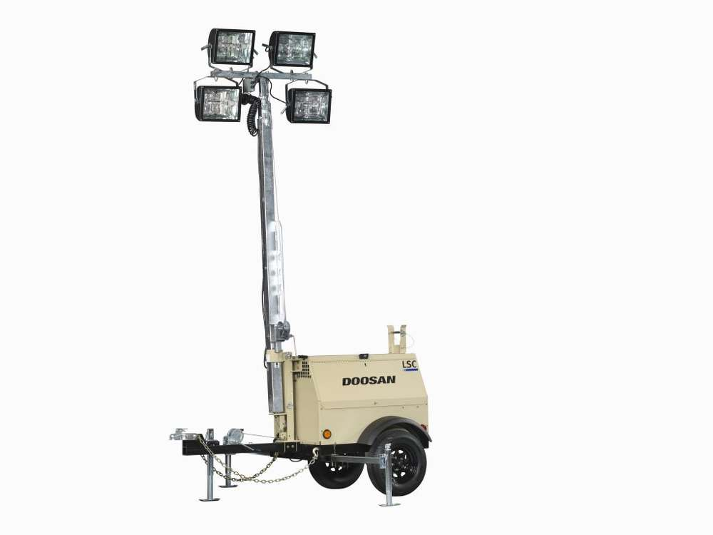 Doosan Portable Power has added light-emitting diode (LED) fixtures as an option for LSC, LS, L6 and L8 light tower models.