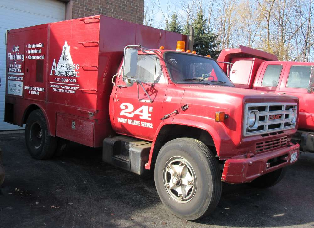 There were a number of trucks, including this service truck up for bid at the auction.