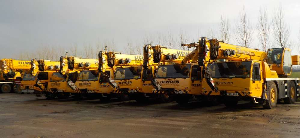 A two day public, disposal auction that includes 130 cranes.