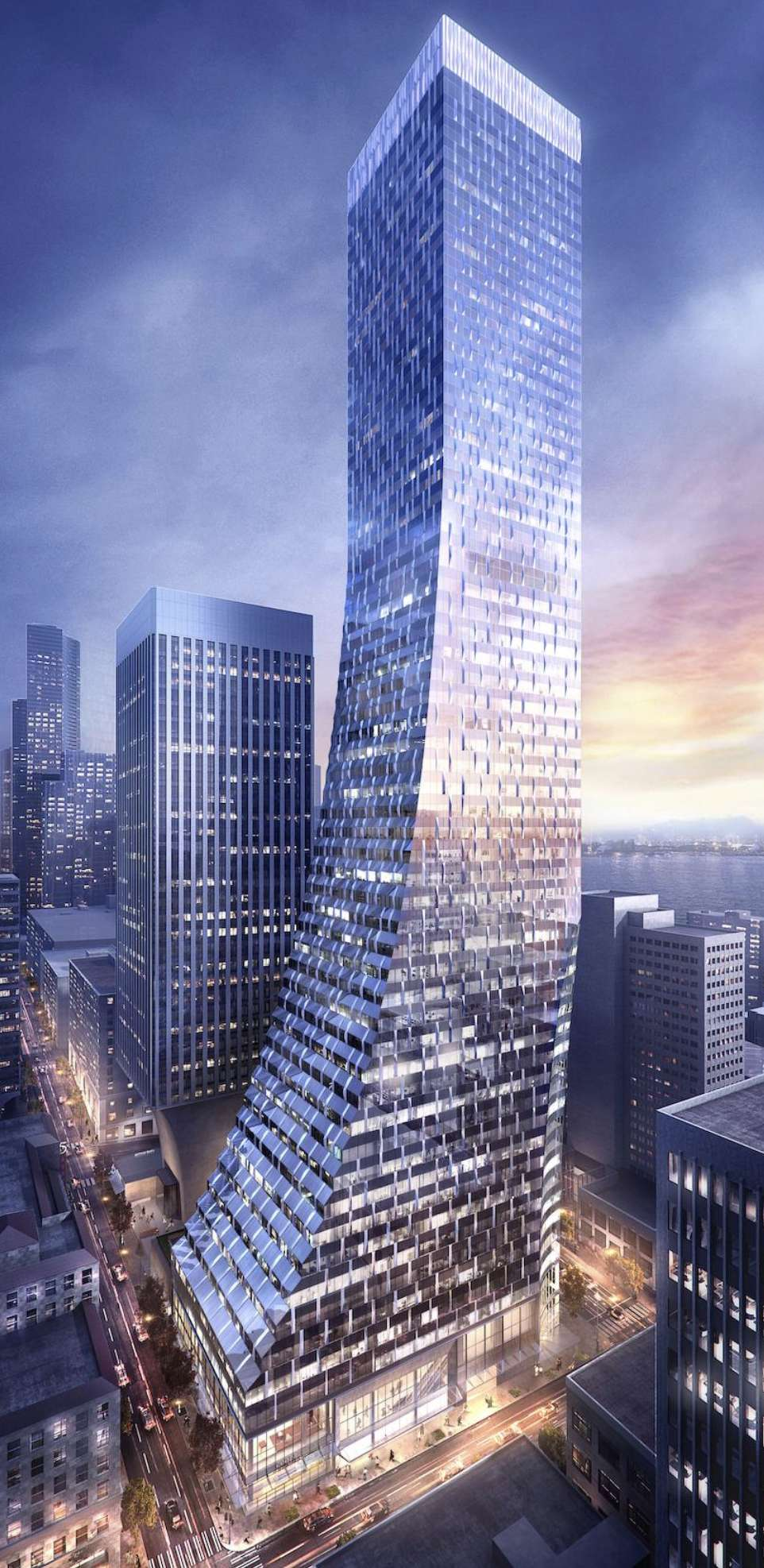 Rainier Tower, in downtown Seattle is one of the many new office buildings under construction in 2017.  via Wright Runstad & Company and NBBJ. http://url.ie/11o6v
