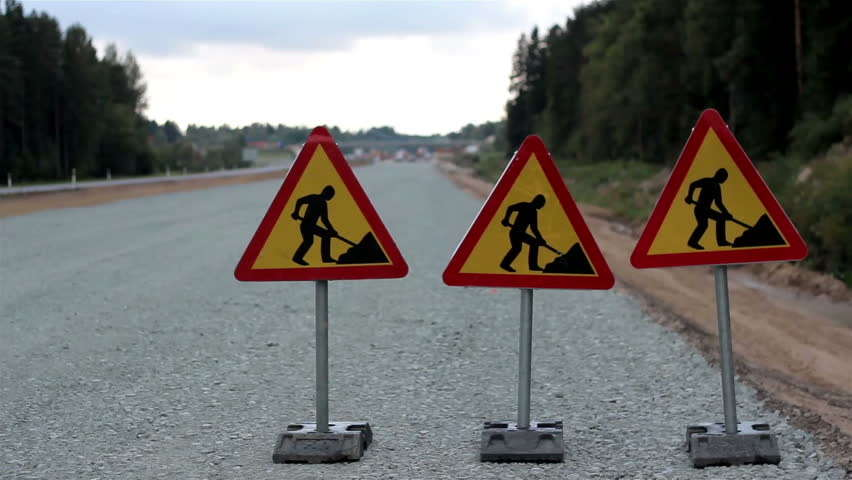 Roadwork signs. http://url.ie/11o75