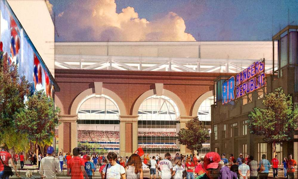 The Texas Rangers announced that HKS Inc. has been selected to design the new ballpark to be built in Arlington.