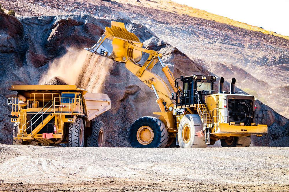 Ames crews performing excavation work.