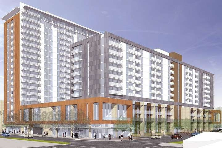 This mixed-use development under construction at Arizona State University in Tempe is adjacent to the school's main campus and will feature 407 units.