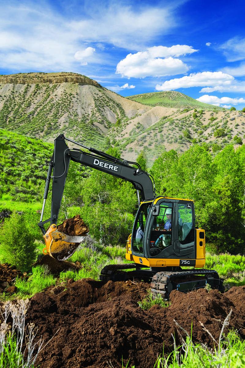 John Deere 75G excavator.