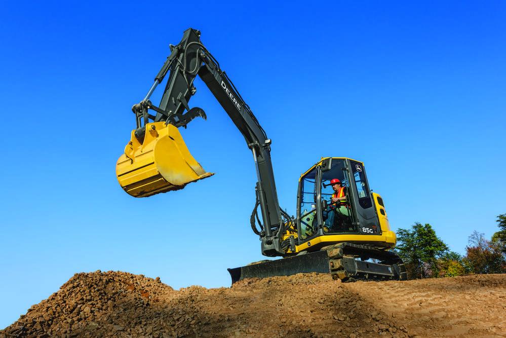John Deere 85G excavator.