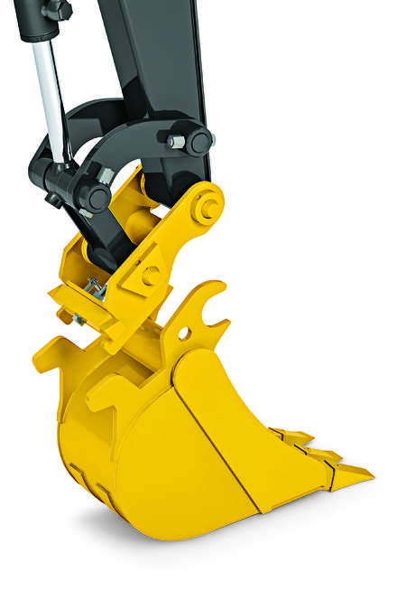 The hydraulic coupler is designed for 35G, 50G and 60G excavators and is compatible with the ever-expanding lineup of John Deere Worksite Pro attachments.
