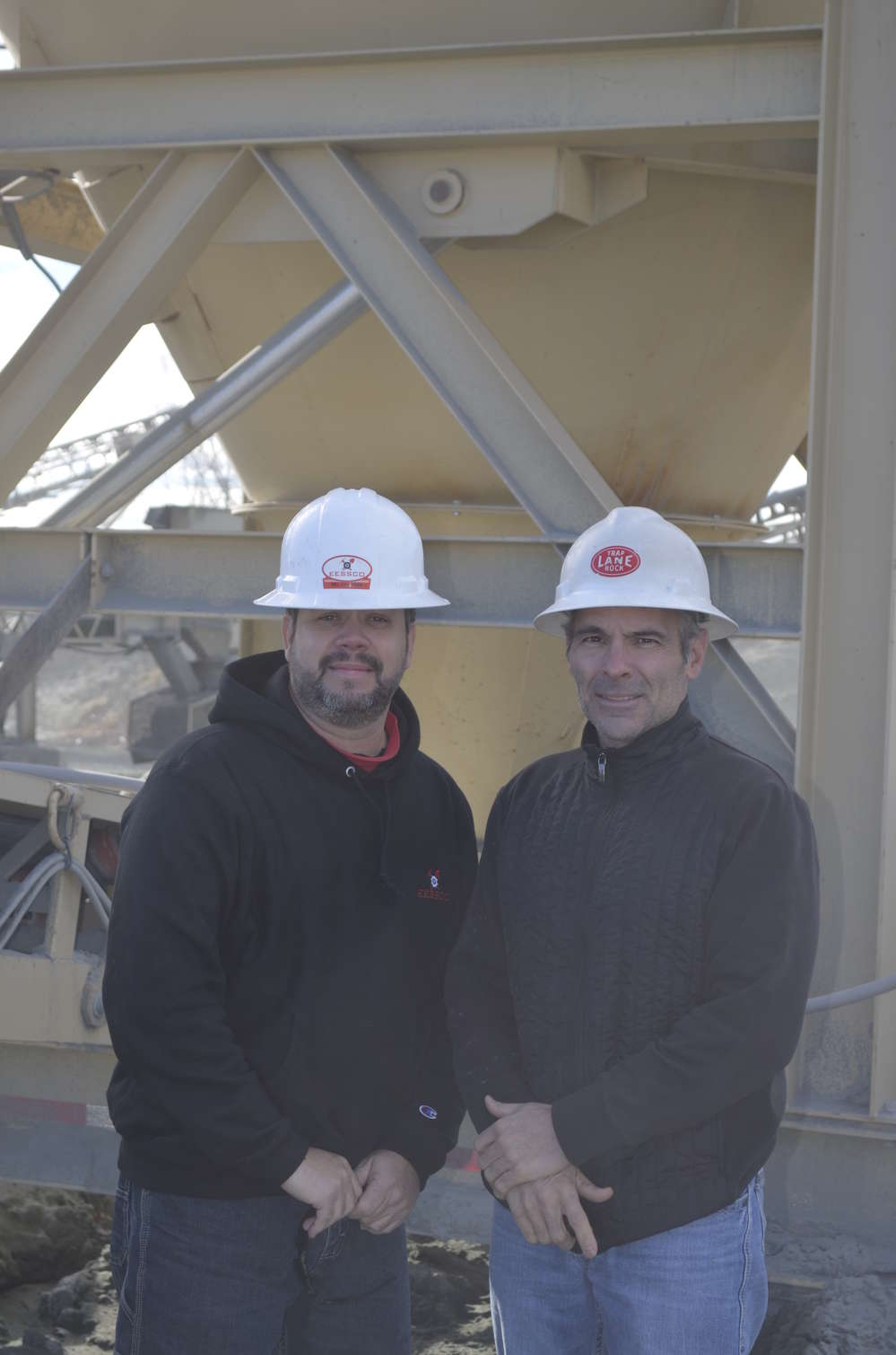 Christopher Salafia (L), territory manager of EESSCO, and Mark Pfaff, plant engineer of John S. Lane & Son.