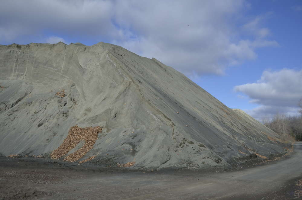 John S. Lane & Son's Westfield quarry has two huge legacy piles that contain more two million tons of material.