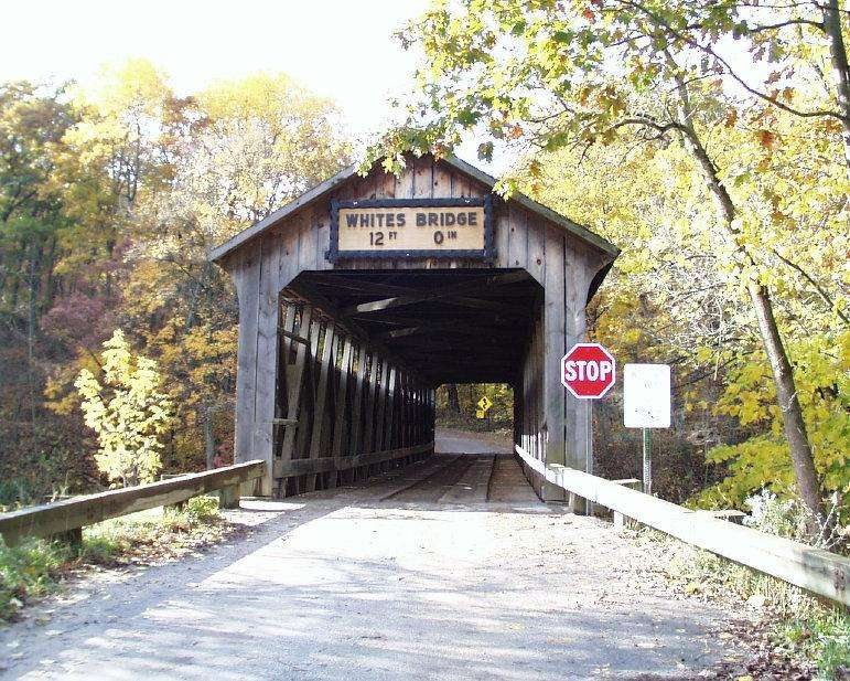 The historic bridge before the fire. http://url.ie/11oke