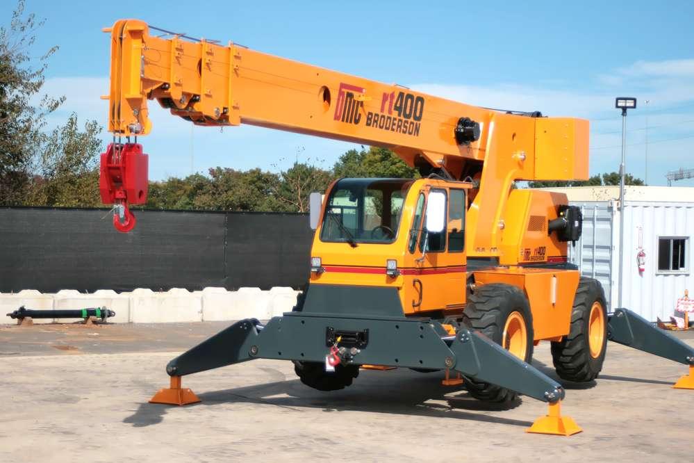 Broderson RT-400 Cab Down Rough Terrain Crane.