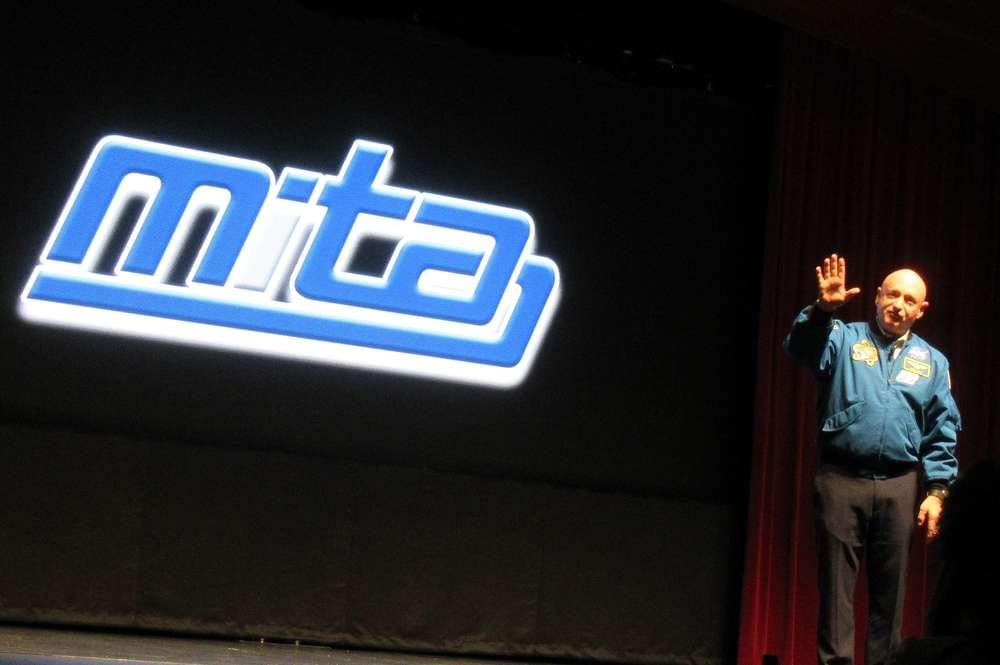 Captain Mark Kelly,  retired NASA astronaut and U.S. Navy Captain, gives the keynote address.