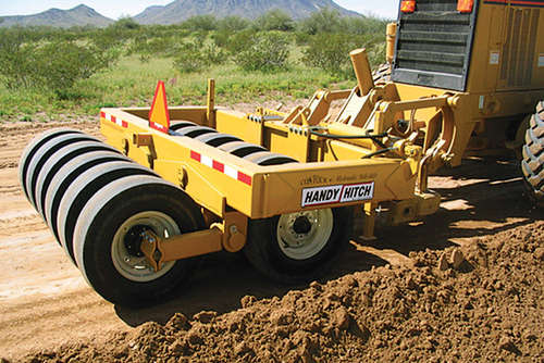The Contour machines mount easily to any brand of grader ripper bar.
