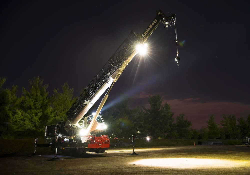 HTC-86110 telescopic truck crane by Link Belt.