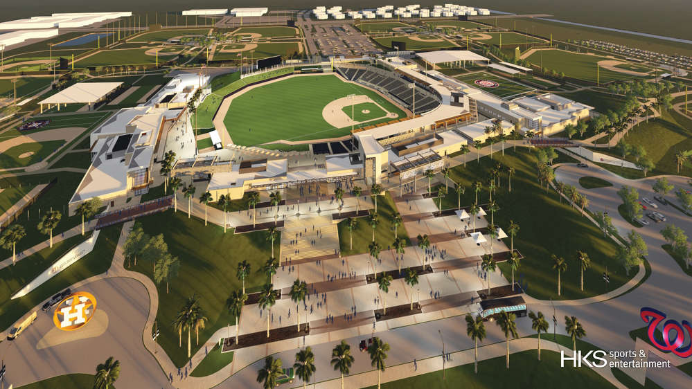Artist rendering of the Ballpark of the Palm Beaches.