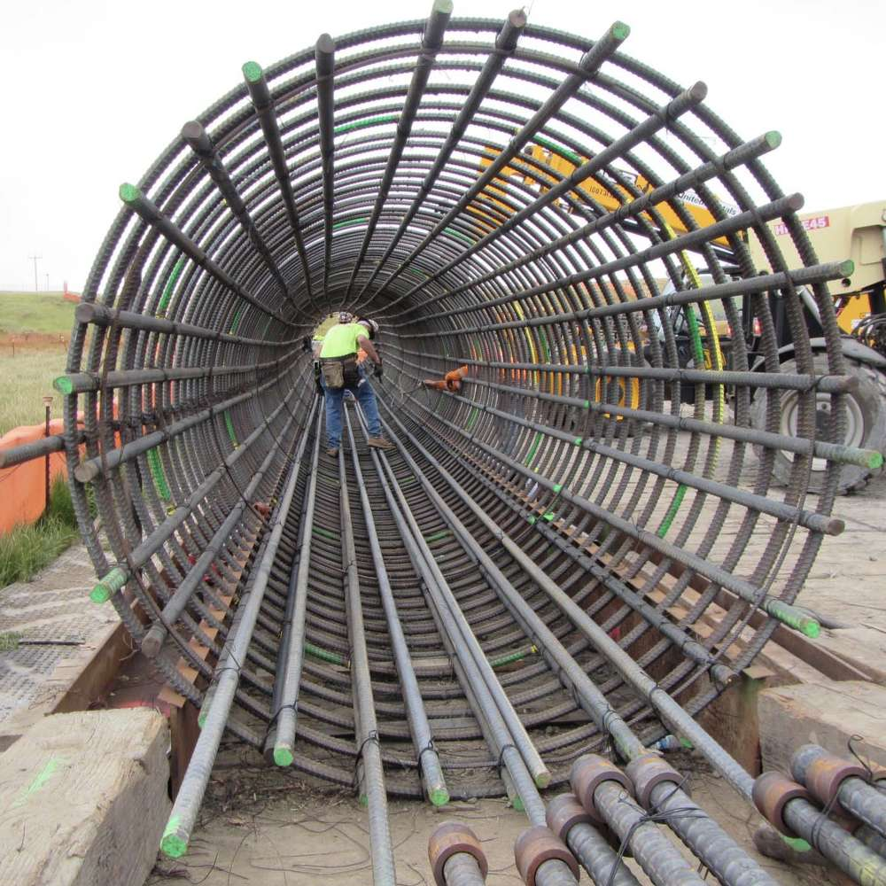 Rebar cage for cast in drilled hole piles