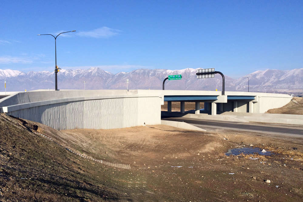 Located just north of Salt Lake City, Utah, the new Brigham City overpass replacement project faced soil settlement issues, which required an alternative embankment fill material to avoid long-term complications.