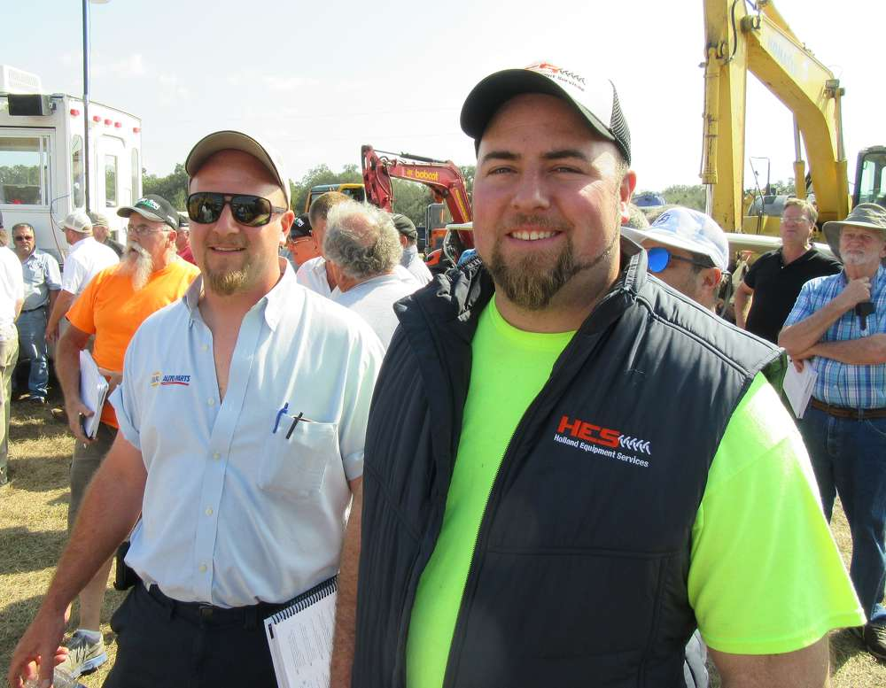 Brothers Aaron (L) and Andrew Geurink of Holland Equipment Services came in from Holland, Mich., for the auctions.