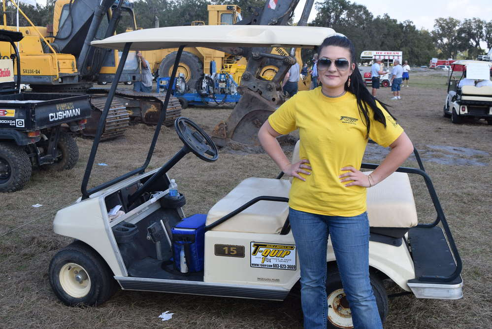 Kyla Dutil of T-Quip, Londonderry, N.H., was hard at work at the Yoder & Frey auction in Kissimmee, Fla.