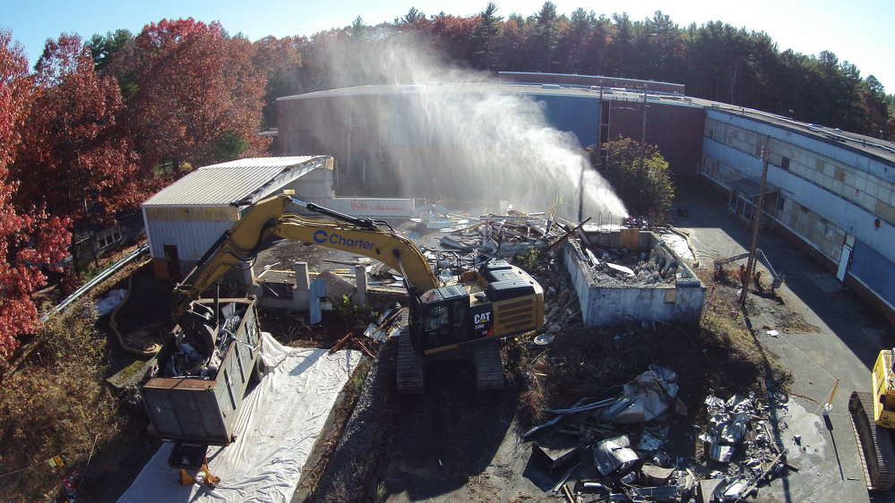 This $55 million demolition project required specialized work and safety precautions.