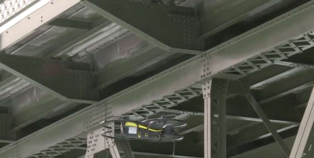 Drones give inspectors greater access to the bridge for their inspection.