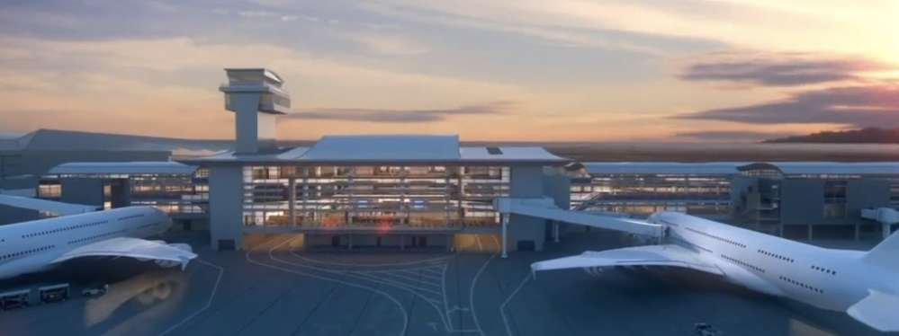 he $1.6-billion Midfield Satellite Concourse will be built just west of the existing Tom Bradley International Terminal. via ABC7