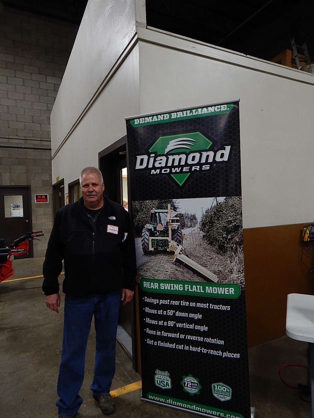 Paul Schreurs, Diamond Products regional sales manager, Sioux Falls, S.D., discusses the  benefits of Diamond flail mowers.