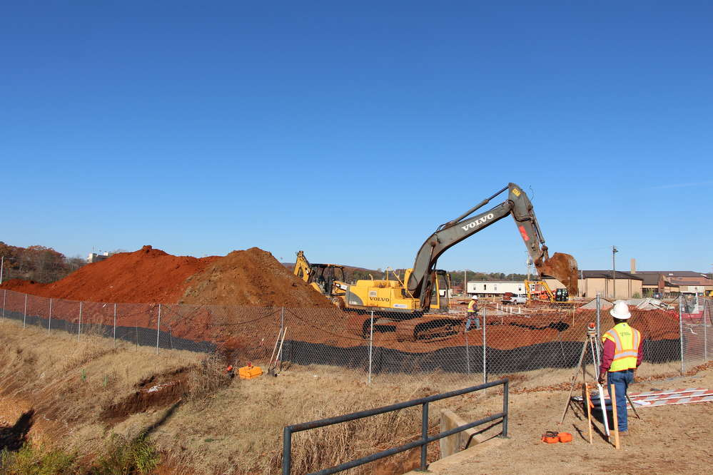 Alabama A&M photo Site work on the new residence hall began in early July, with the building package commencing in mid-October
