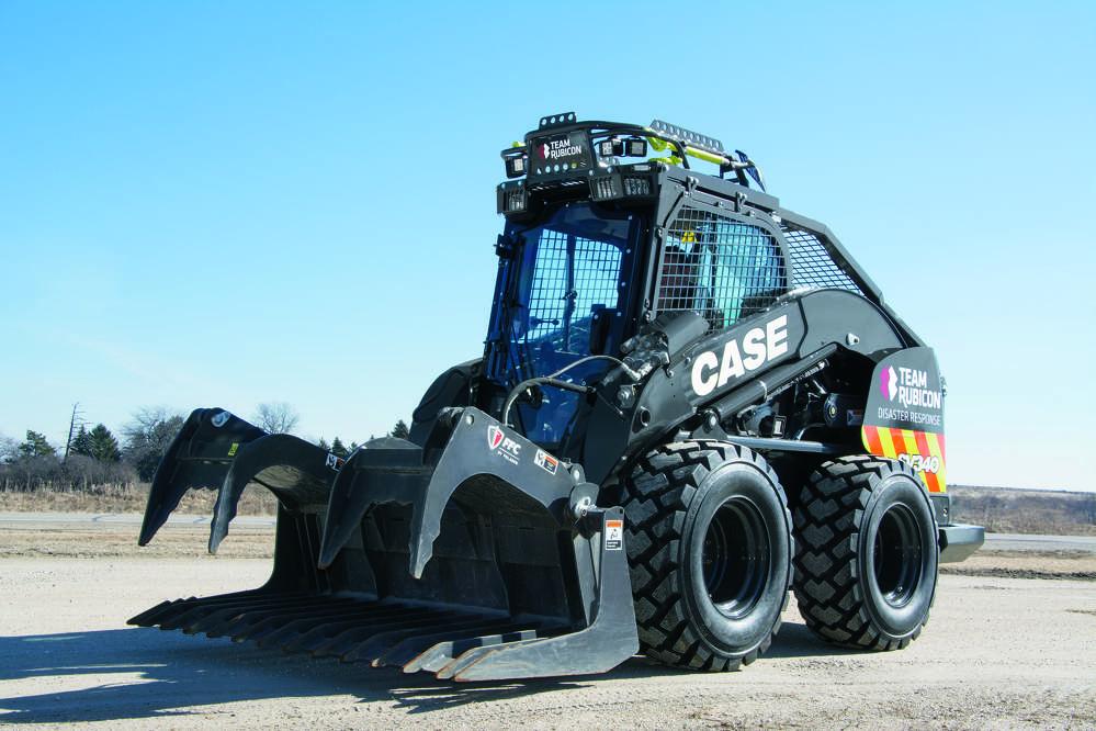 Team Rubicon Edition Case SV340 skid steer.