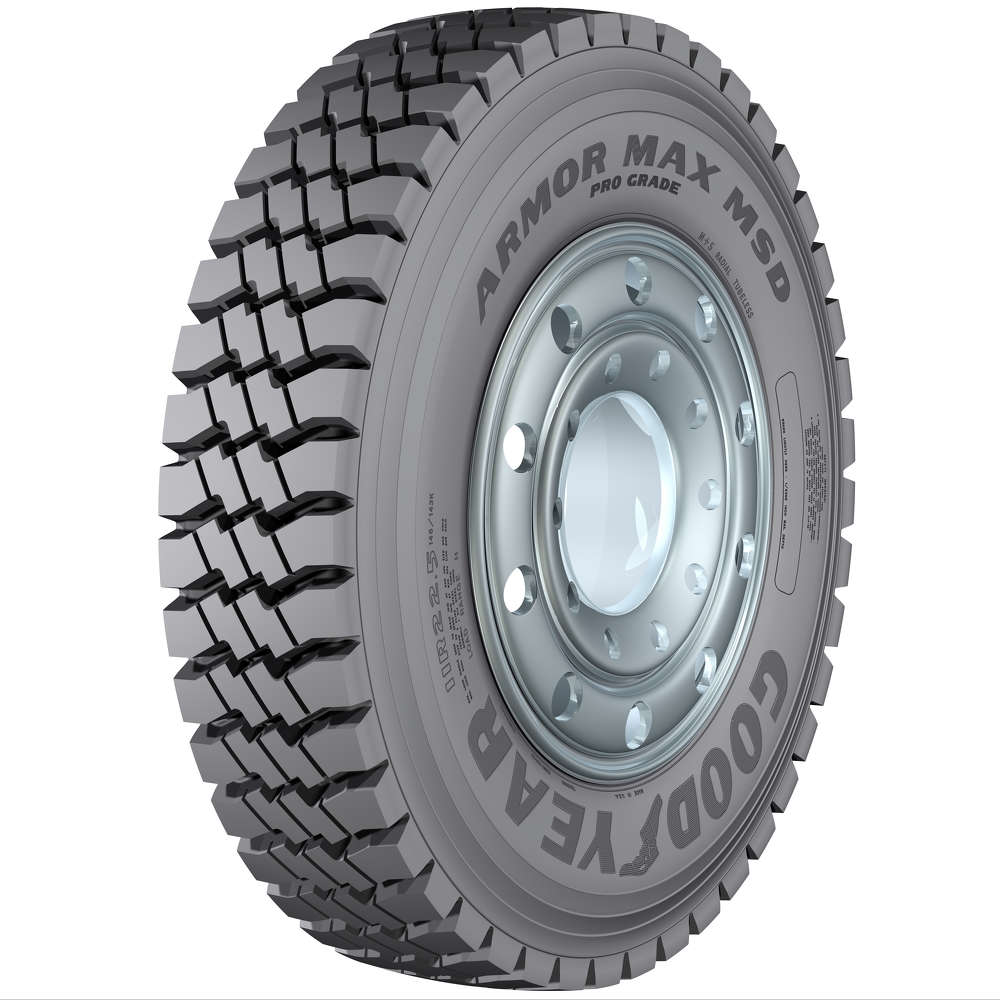 Goodyear Armor Max Pro Grade MS targets construction trucks and features a rugged tread design for enhanced.