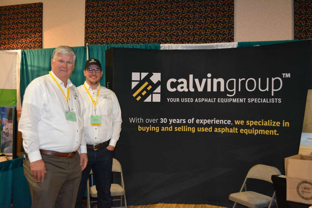 Mark (L) and Matthew Pentz of The Calvin Group returned to Denver from the Florida auctions just in time to present their company, which exclusively specializes in buying and selling asphalt paving equipment.