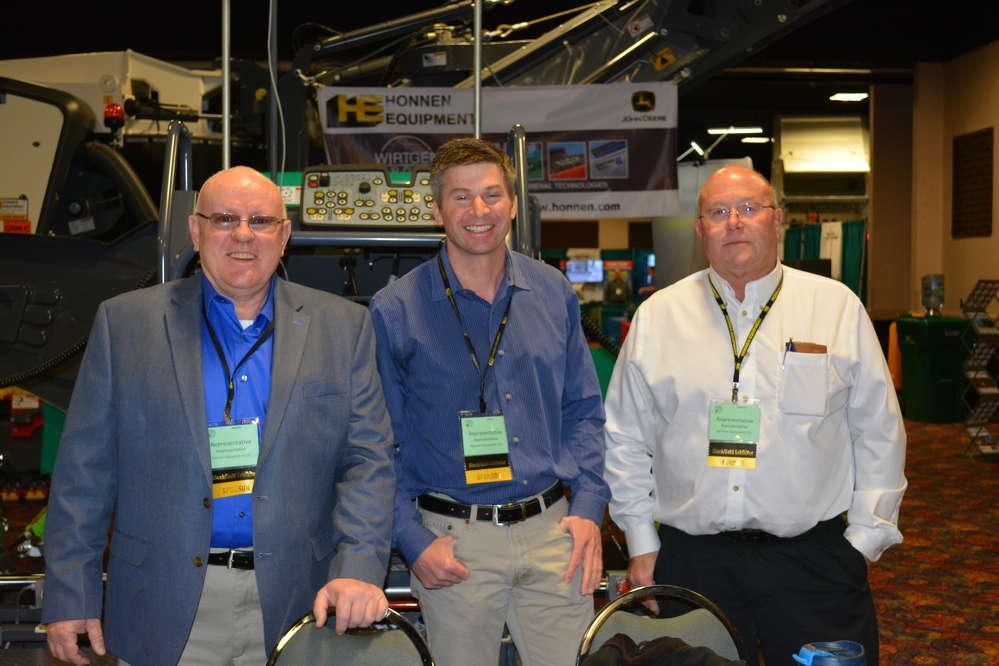 Honnen Equipment was well represented (L-R) by Brian Conlon, Kleemann specialist; Chad Garoriau, account manager; and Bill Wright, Wirtgen product specialist.