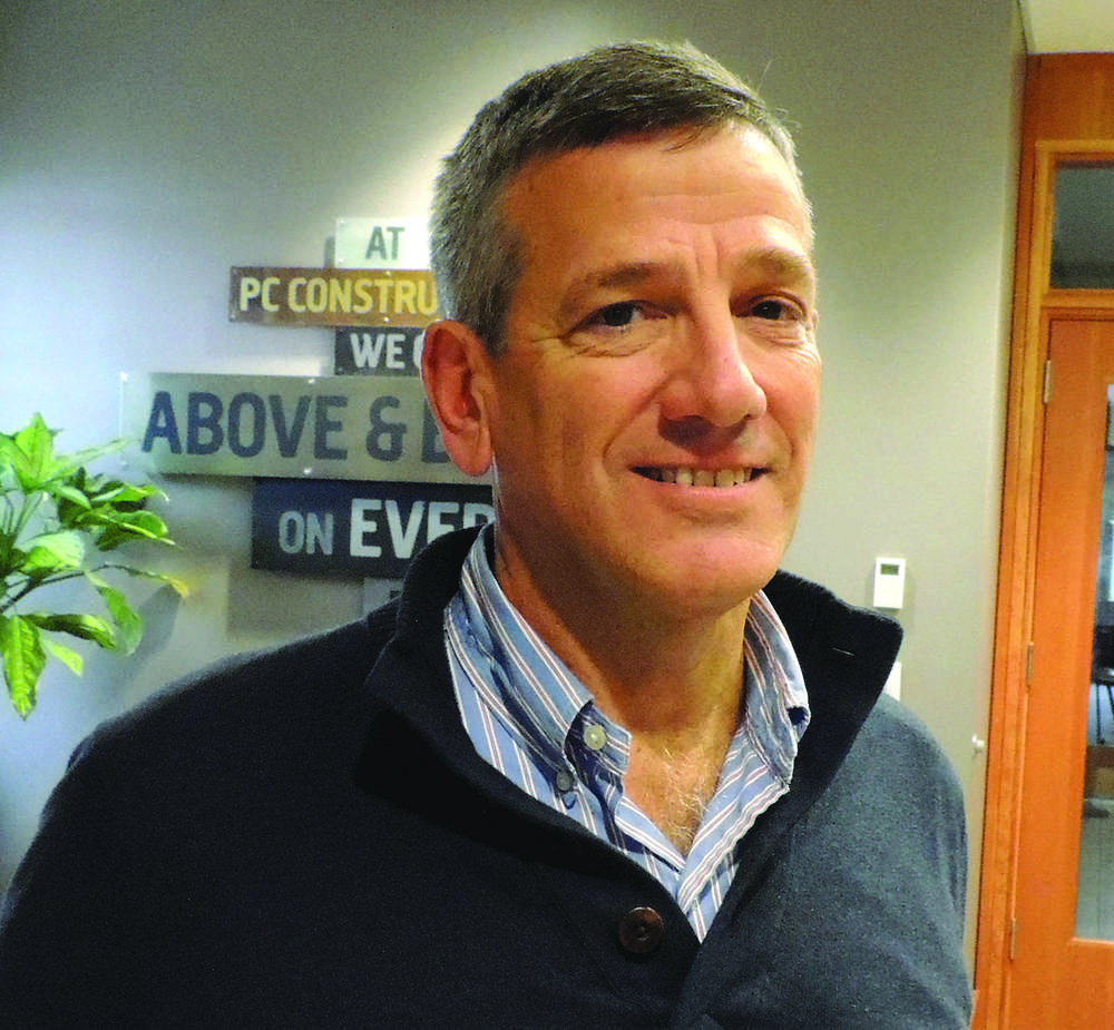 Larry Knapp, director of new business development at PC Construction.