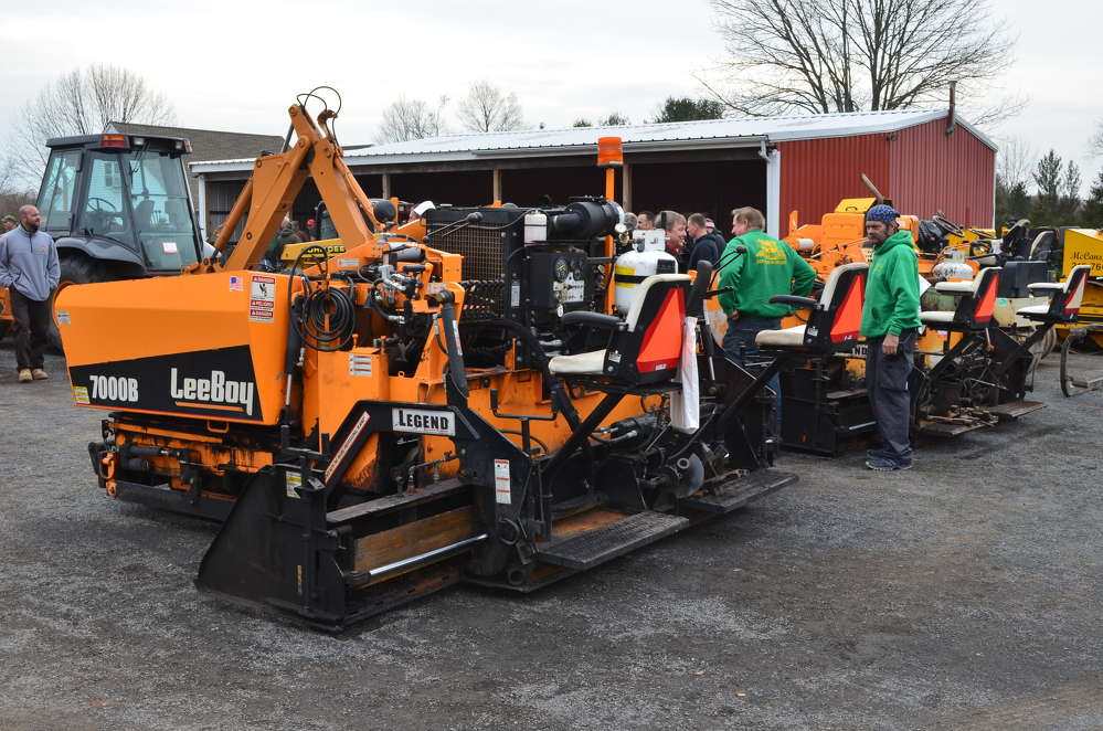 This LeeBoy 7000B and other pavers went on the auction block in Perkasie, Pa.