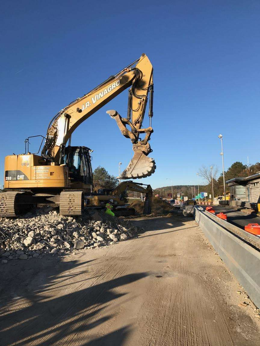 Excavation and back fill of the tunnels under the toll booths in the Berkshire region.