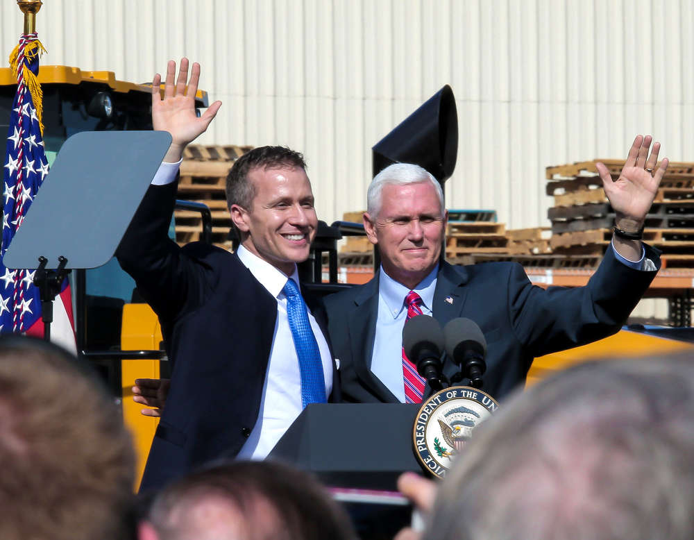 Gov. Greitens introduces Vice President Pence.