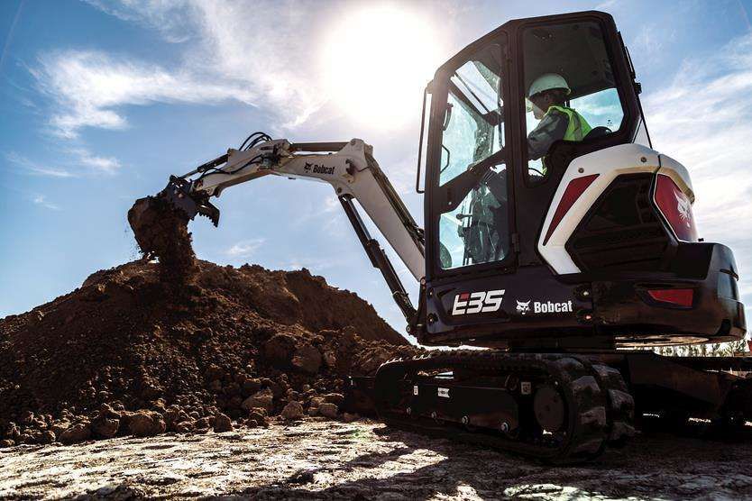 The Bobcat E35 R-Series excavator.