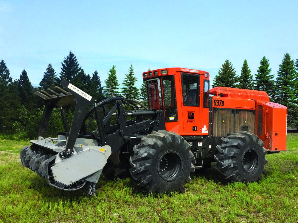 Barko 937B wheeled tractor.