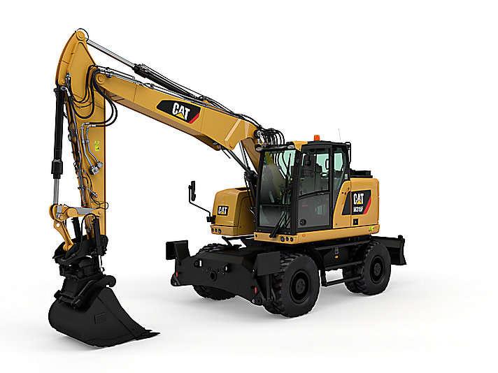 CAT M315F wheeled excavator.