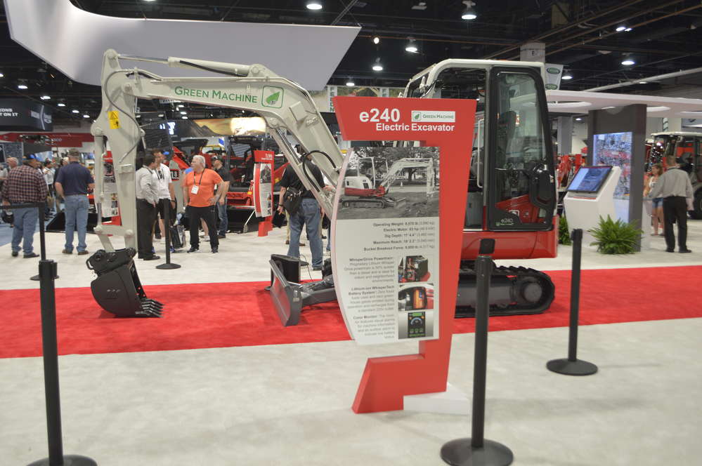 The Takeuchi TB240 compact excavator was featured at ConExpo-Con/AGG 2017.