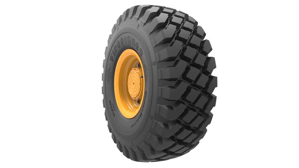 Bridgestone VersaBuilt deep- tread tires.