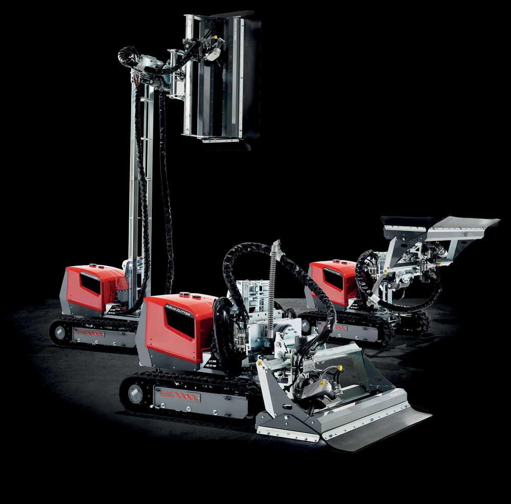 Aquajet's full line of hydrodemolition robots.